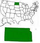Map of United States & North Dakota