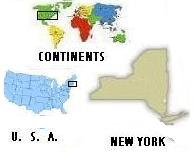 Map of U.S. and New York